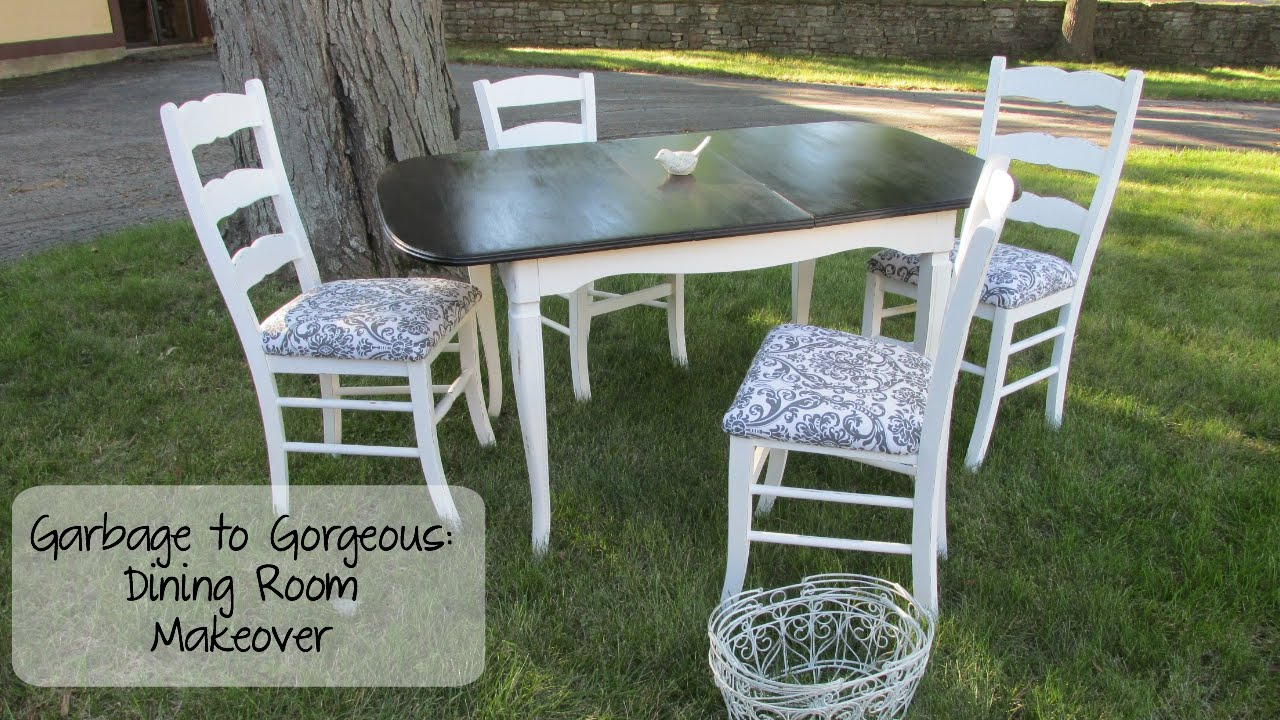 Garbage To Gorgeous Episode 10 Shabby Chic Dining Room Makeover On A Budget DIY