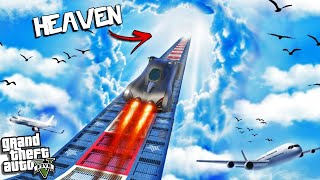 JUMPING a MEGA RAMP into HEAVEN in GTA 5