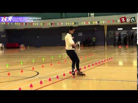 Gái xinh trượt patin - Freestyle slalom - Sui Fei Qian