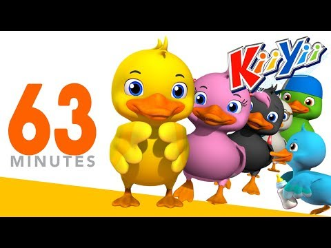 Thumbnail: Six Little Ducks | + More Nursery Rhymes And Kids Songs | 63 Minutes Compilation from KiiYii!