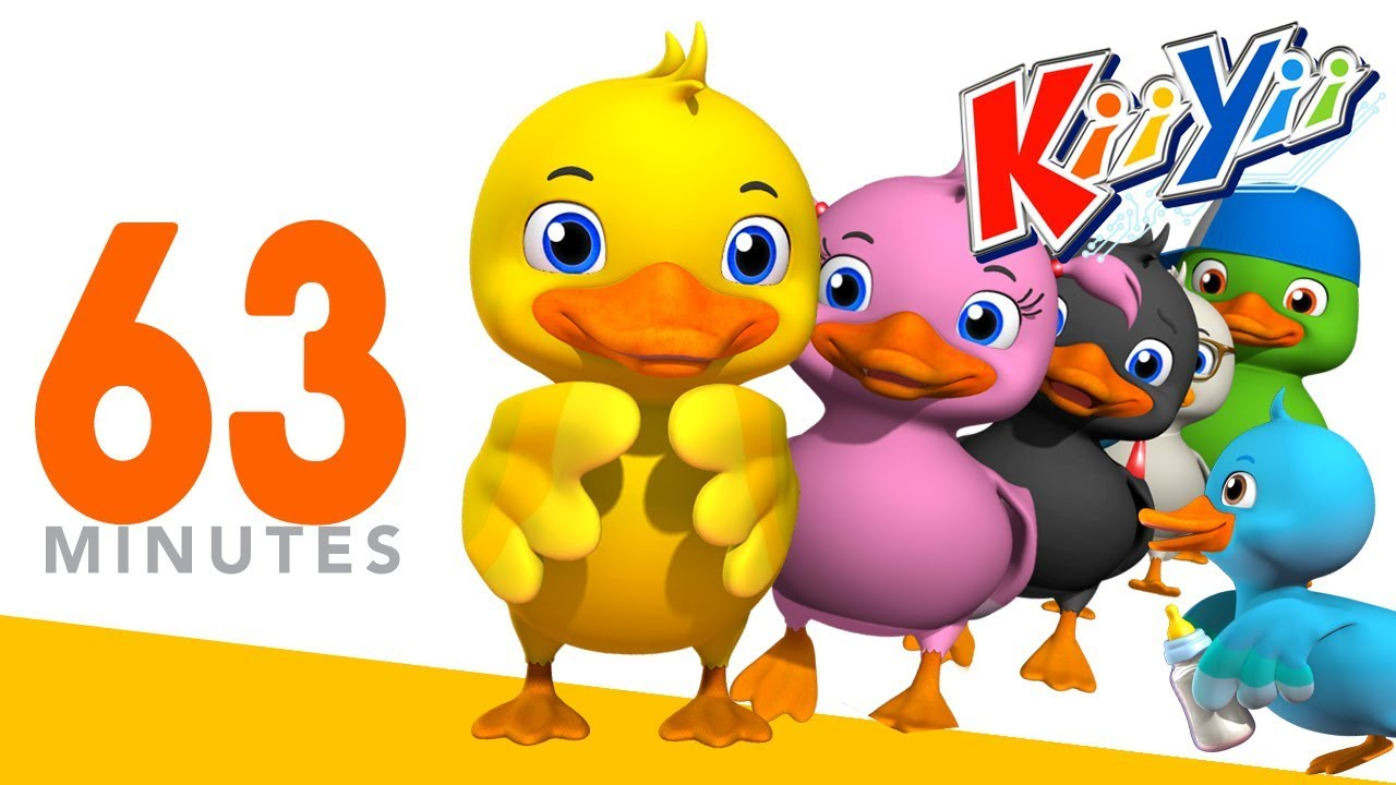 Six Little Ducks | Plus More Nursery Rhymes And Kids Songs | 63 Minutes Compilation from KiiYii! #1