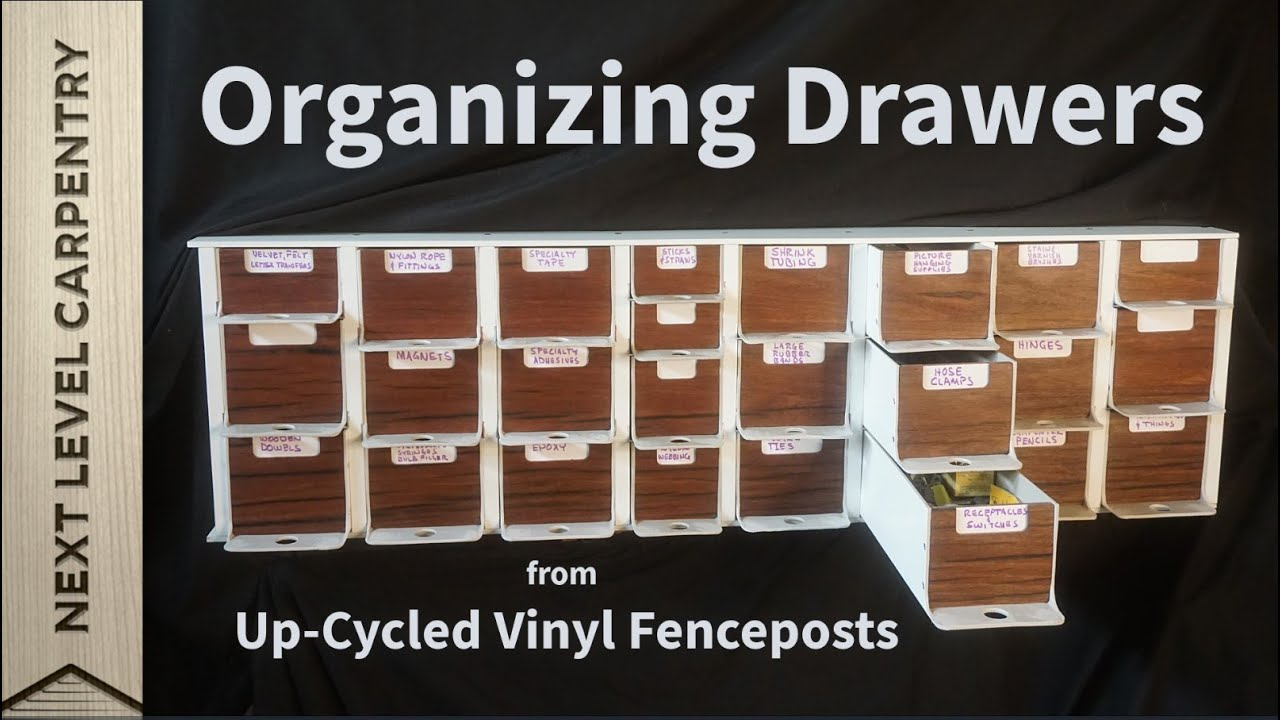 Make Organizing Drawers from Up-cycled Vinyl Fenceposts