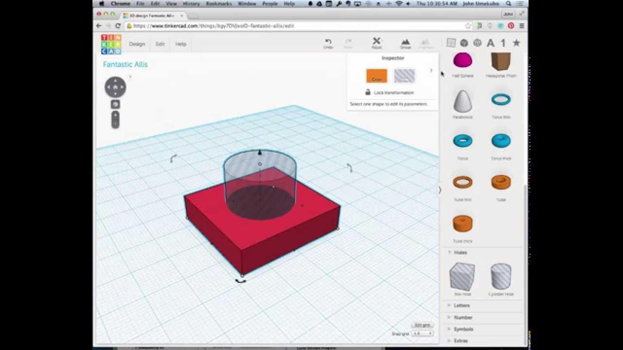 TinkerCAD - Creating Holes - YouTube on