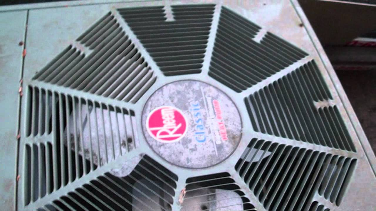 small resolution of 2003 rheem classic 1 5 ton heat pump startup shutdown in heat mode youtube