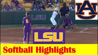 Auburn vs #13 LSU Softball Game Highlights 5 8 2021