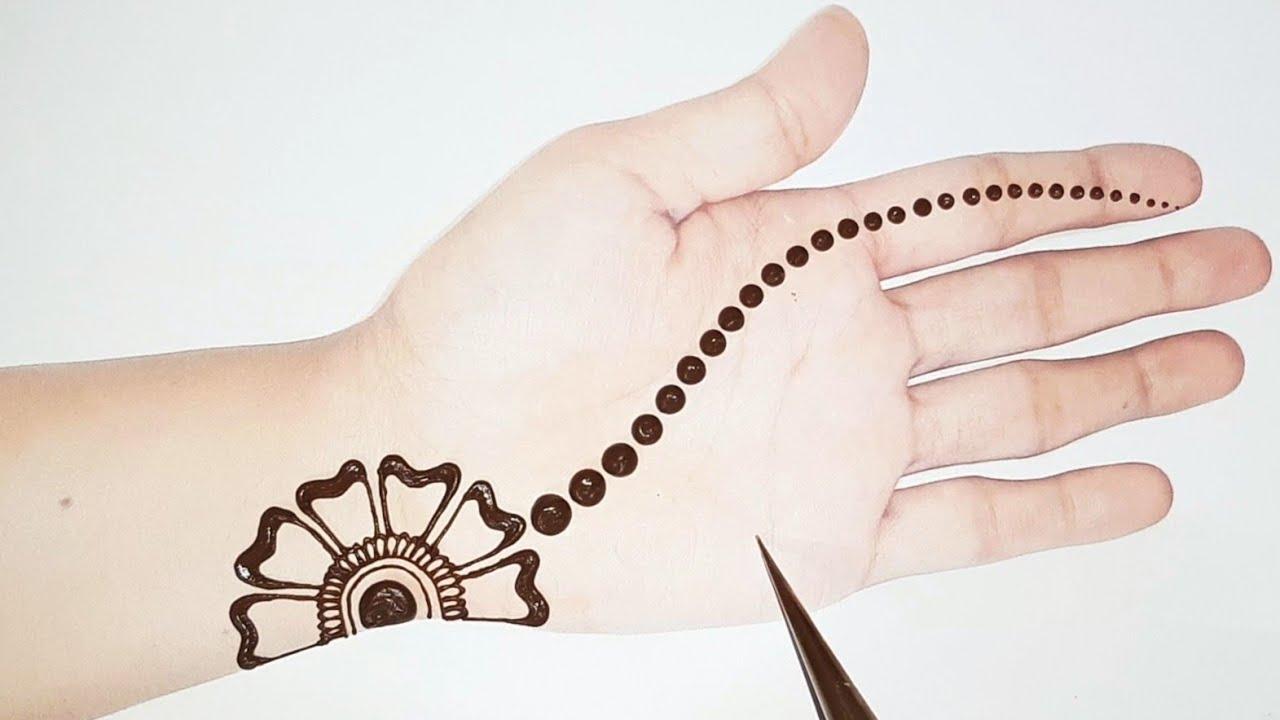 Simple mehndi designs for front hand   Arabic mehandi design   Gol tikki mehndi   Shab's Creation