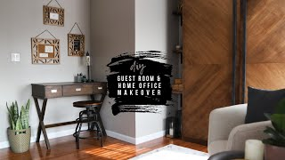 DIY Home Office/Guest Room Makeover   Making A Work From Home Space For Mom!