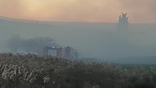 Se estrella una aeronave cerca del Aeropuerto de Pamplona