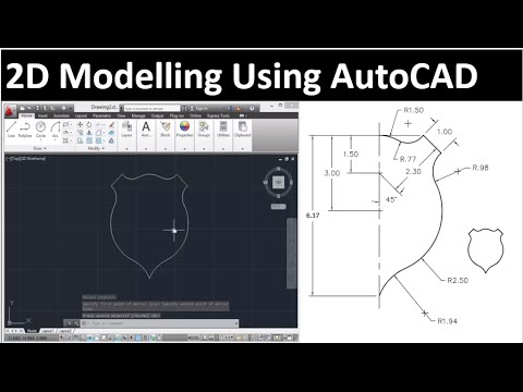 2D drawing using AutoCAD: drawing 1