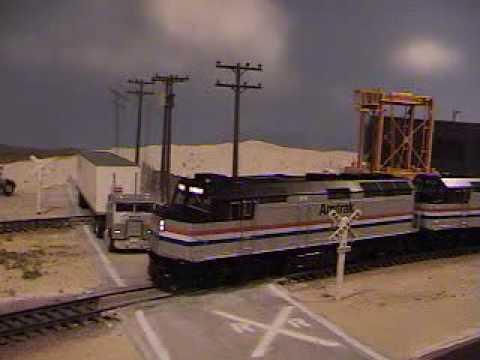 HO Amtrak California Zephyr in the Glendale yard...Part 2