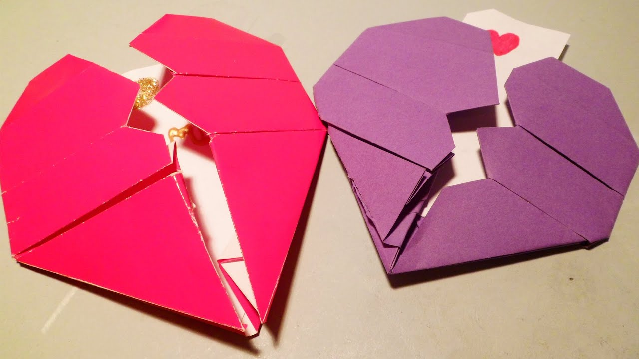 Coraz n roto de origami san valent n youtube - Corazones de san valentin ...