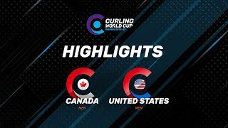 HIGHLIGHTS: United States v Canada – Men's – Curling World Cup leg two, Omaha, United States