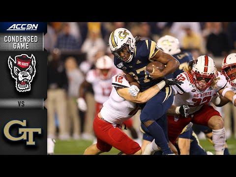 NC State Vs. Georgia Tech Condensed Game | ACC Football 2019-20