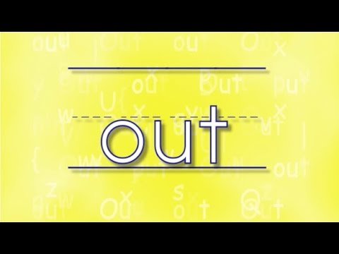 The Out Song Sing Amp Spell Sight Words Youtube