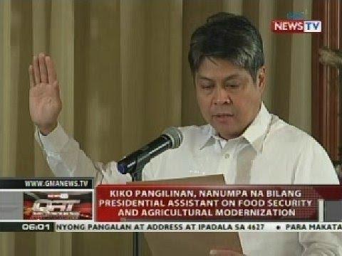 Kiko Pangilinan, nanumpa na bilang presidential assistant