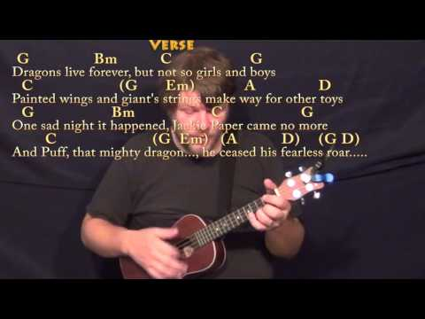 Puff the Magic Dragon - Ukulele Cover Lesson in G with Chords/Lyrics