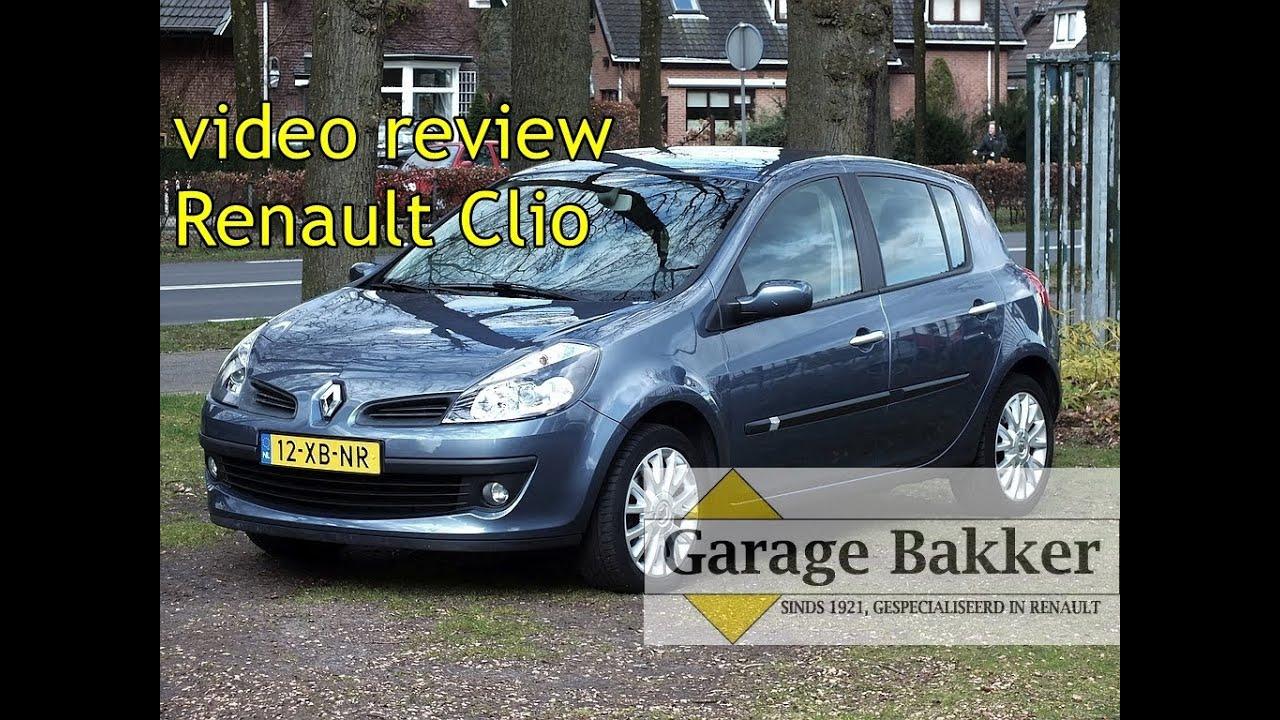 Video review renault clio 1 4 16v dynamique 2007 12 xb nr