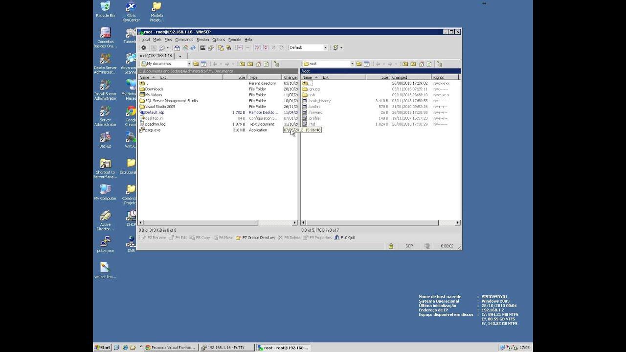 Exportar VM do Proxmox para o Xenserver – …::: ClusterWeb