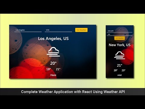 Complete Weather App Using React - Weather API
