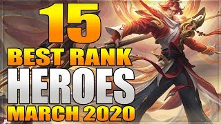 15 Strongest Heroes Best For Ranking To Mythical Glory in Mobile Legends Before Popol and Kupa