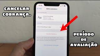 Como cancelar a assinatura de um aplicativo. Apple Store/cobrança.