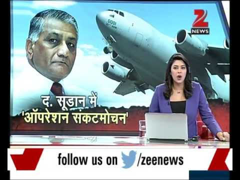 Minister Gen V.K. Singh left for South Sudan to airlift 600 Indian stuck in Juba
