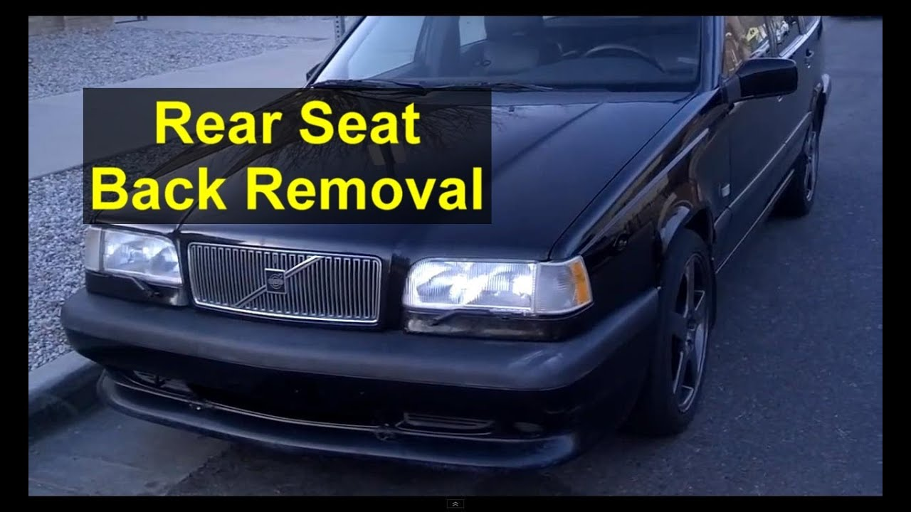 Rear seat back removal, Volvo wagon, estate, 850, V70, XC70 - Auto Repair Series - YouTube