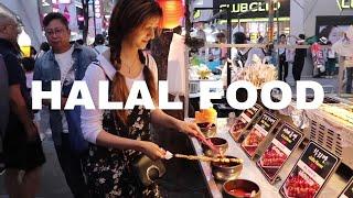 Korean unique street food, Myeongdong Market in Korea