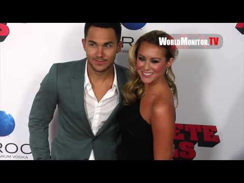 Alexa Vega and 'Big Time Rush' Carlos Pena True Love at Machete Kills LA Premiere