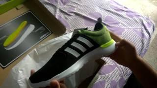 Adidas Neo Men's Cloudfoam Lite Racer Sneakers UNBOXING