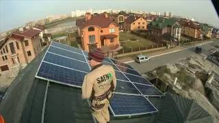 Монтаж солнечной электростанции и оформление