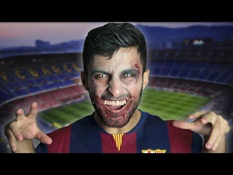 el zombie luis suarez que asusta en halloween