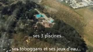 Camping de La Pascalinette**** vu du ciel avec l'espace aquatique