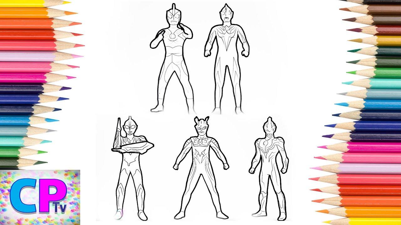 Ultraman Coloring Pages Ultraman Ribut Ultraman Zero Coloring Pages Kids Tv Ultraman Fun