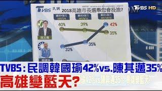 【完整版上集】TVBS民調:韓國瑜42%vs.陳其邁35%!高雄變藍天?少康戰情室 20181017
