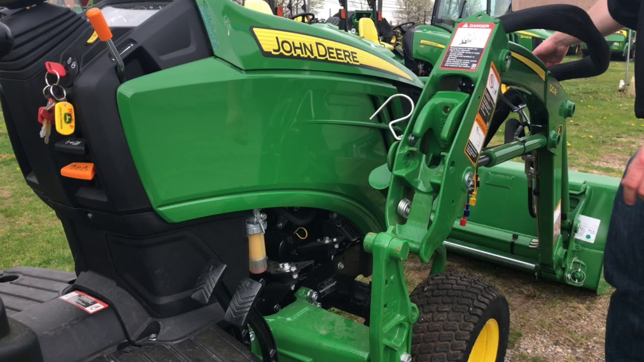 How to Attach a 120R Loader on a 1025R John Deere Tractor