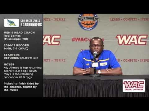 2015-16 WAC Basketball Preview - Rod Barnes, CSU Bakersfield