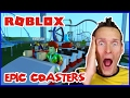 Riding Coasters with a Friend / Roblox Theme Park Tycoon