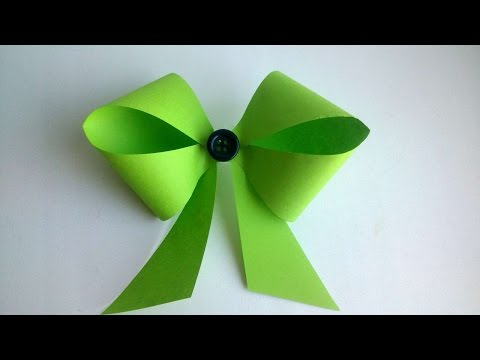 How To Make Pretty Paper Bow