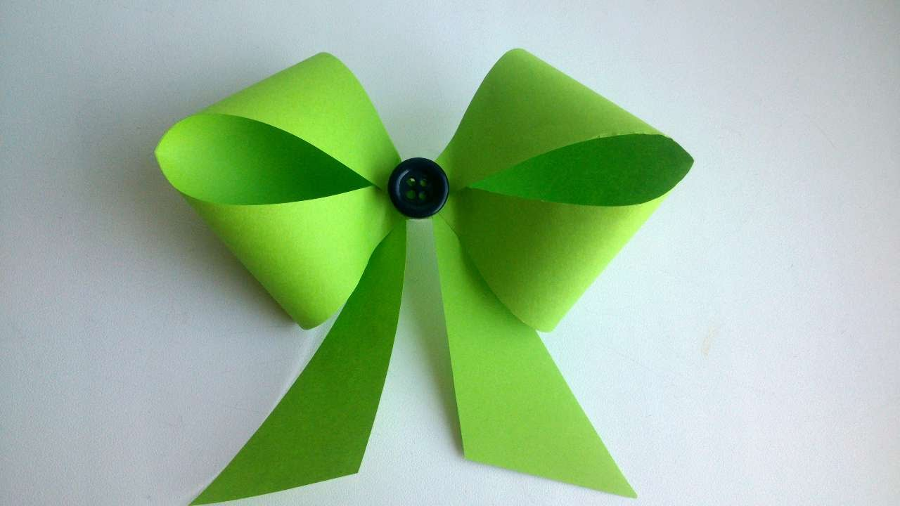 How To Make A Pretty Paper Bow Diy Crafts Tutorial
