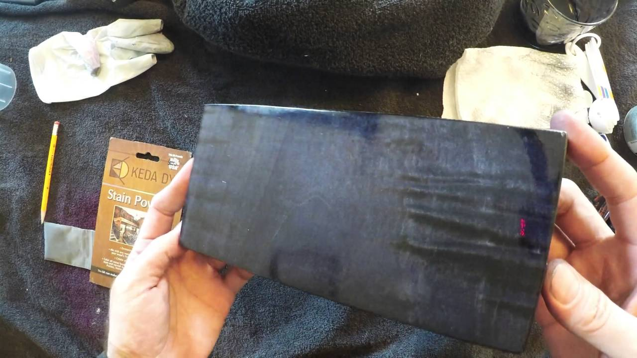 Black Wood Dye Used To Make A Very Clean Black Wood Stain   YouTube