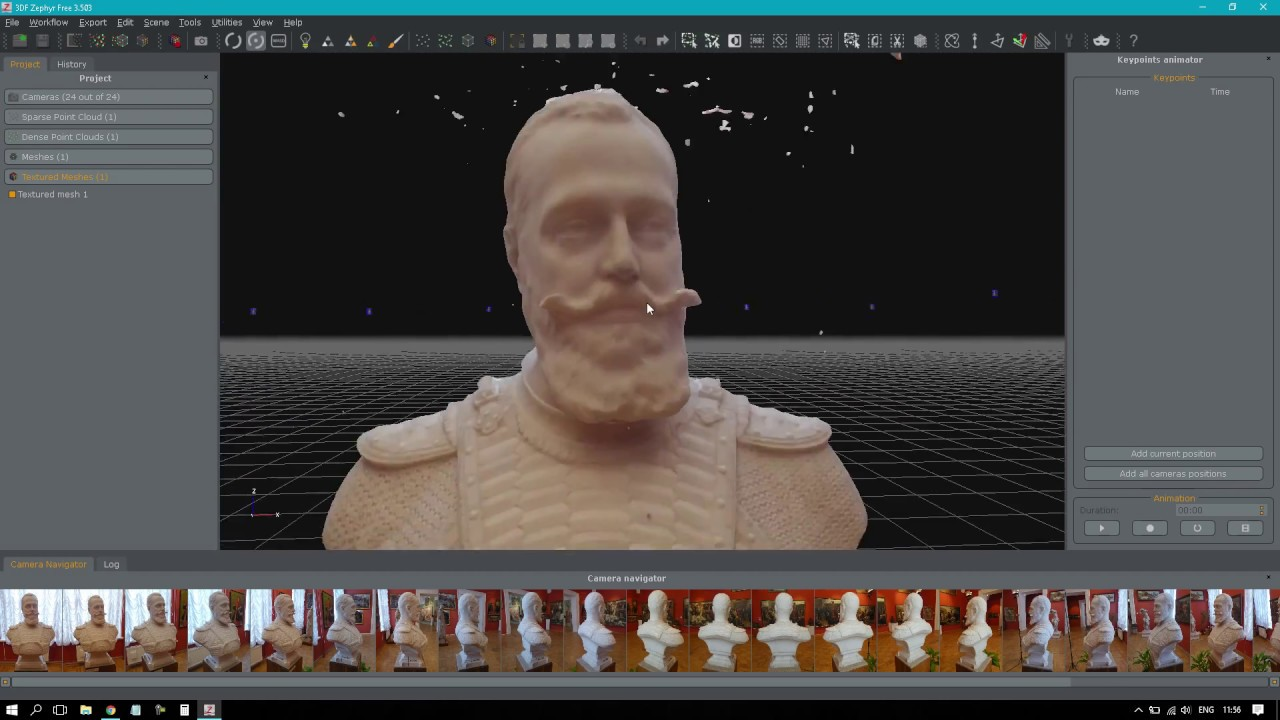 Create photogrammetry 3d scan with 3D Zephyr Free - YouTube