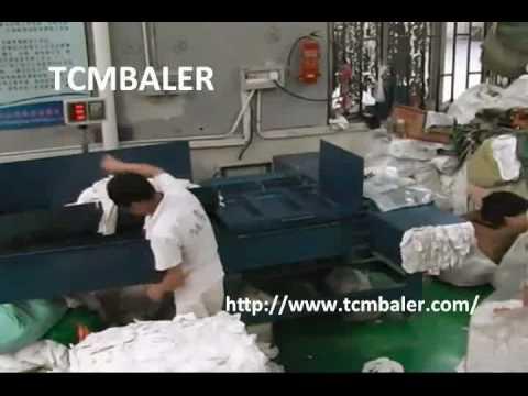 TCM BALER- cleaning rags packaging press baler Armenia  Mali  Malawi