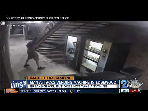 """Harford County Sheriff's looking for """"disguised"""" vending machine vandal"""