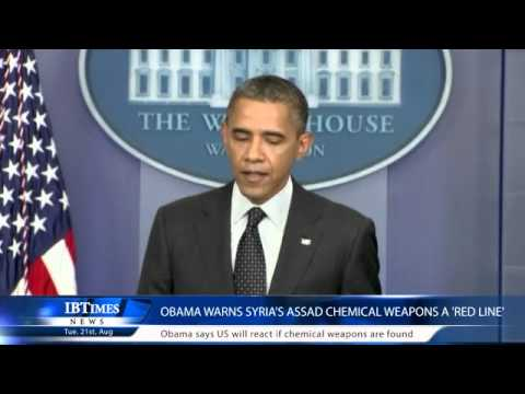 Obama Warns Syria's Assad Chemical Weapons A 'RED Line'