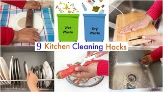 9 Useful KITCHEN Cleaning HACKS/TIPS You Must Follow | CookWithNisha