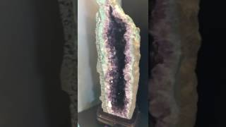 "Amethyst 27"" on wood base"