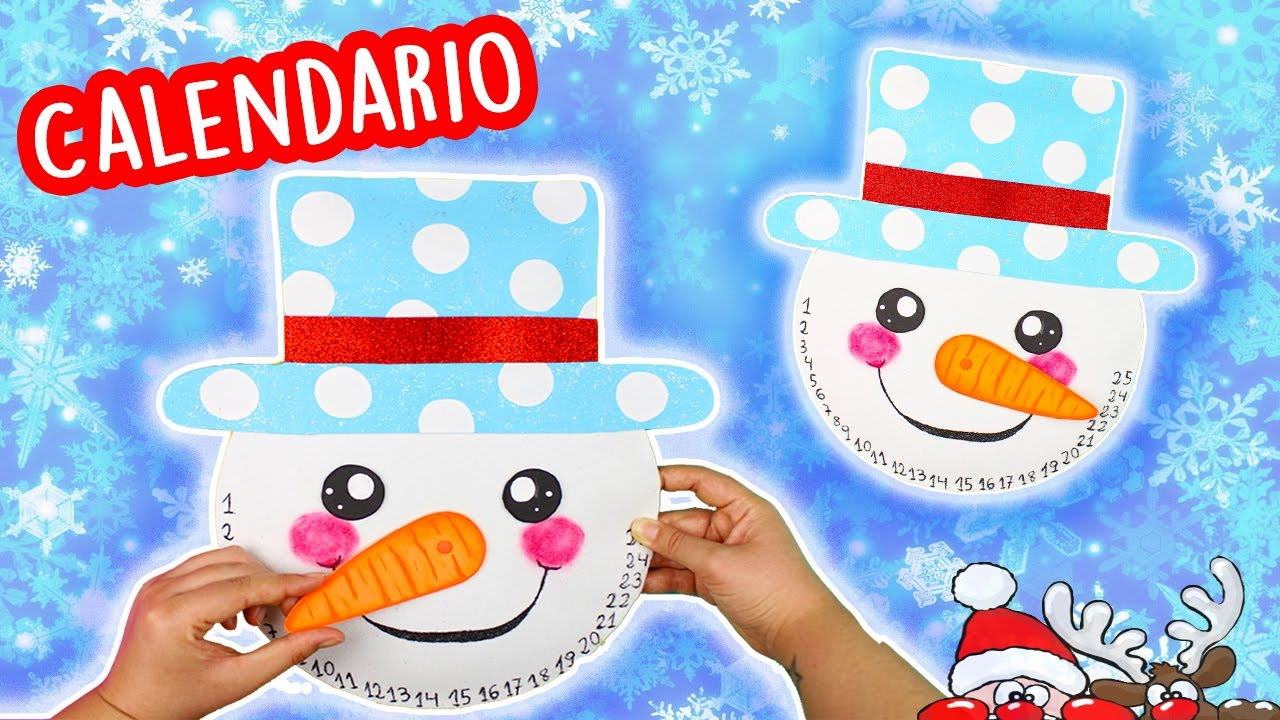 Diy mu eco de nieve calendario de adviento manualidades for Calendario manualidades