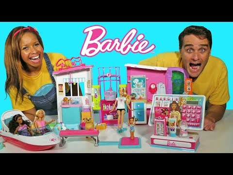 Barbie Cash Register Shopping Spree + Toy Challenge ! || Toy Review || Konas2002