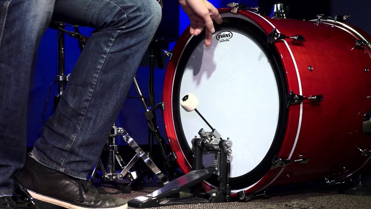 evans emad coated bass drum head review youtube. Black Bedroom Furniture Sets. Home Design Ideas